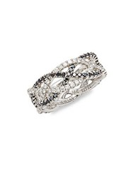 Kwiat Twist Diamond And 18K White Gold Wedding Ring Silver
