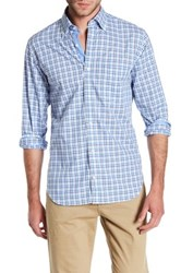 Tailorbyrd Long Sleeve Plaid Trim Fit Woven Shirt Blue