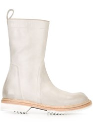 Rick Owens Round Toe Boots Nude And Neutrals