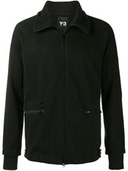 Y 3 Zipped Lightweight Jacket Black