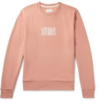 Saturdays Surf Nyc Bowery Logo Print Loopback Cotton Jersey Sweatshirt Pink