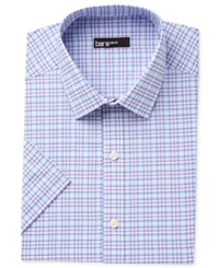 Bar Iii Men's Slim Fit Stretch Easy Care Short Sleeve Dress Shirt Only At Macy's Purple
