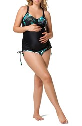 Women's Cake 'Soda' Maternity Nursing Tankini Top And Brief Bikini Bottoms