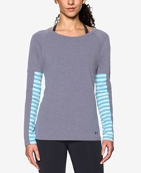 Under Armour Favorite Long Sleeve T Shirt Midnight Navy Island Blue