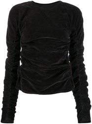 Christophe Lemaire Ruched Long Sleeve Top Grey