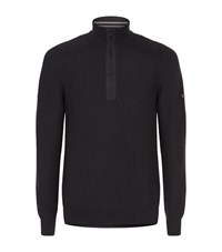 Barbour International Alloy Half Zip Jumper Male Black