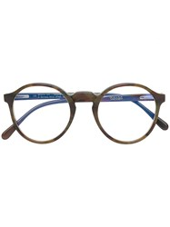 Ralph Vaessen Noud Circle Glasses Brown