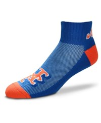 For Bare Feet New York Mets The Cuff Ankle Socks Royalblue