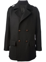 Paul And Joe 'Matador' Double Breasted Coat Black