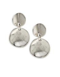 Uno De 50 Scale Drop Earrings Silver
