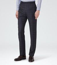 Reiss Chester T Mens Modern Fit Trousers In Blue