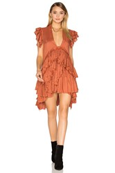 Maria Stanley Frades Dress Burnt Orange