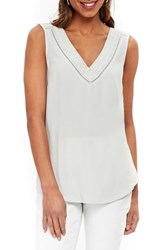 Wallis Embroidered V Neck Camisole Silver