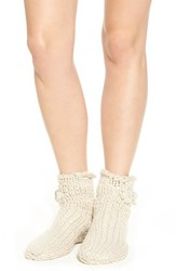 Lemon Women's 'Peppermint' Slipper Socks With Faux Fur Lining