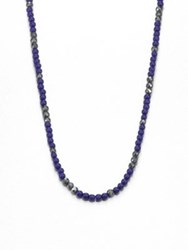 Stephen Webster No Regrets Beaded Necklace Hematite Lapis