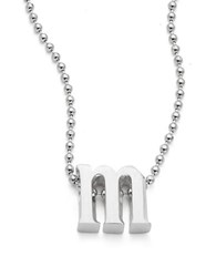 Alex Woo Icon Sterling Silver Initial Necklace M