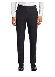 Emporio Armani Wool Twill Pants Charcoal