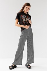 Urban Outfitters Uo Wide Leg Pinstripe Pant Black White