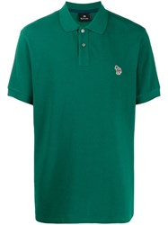 Paul Smith Ps Embroidered Logo Polo Shirt Green