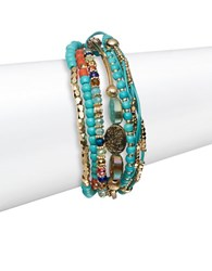 Cara Bead And Thread Pull Bracelet Turquoise