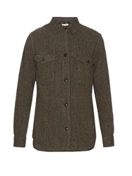 Etoile Isabel Marant Hill Virgin Wool Tweed Shirt Grey
