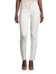 7 For All Mankind Sateen Skinny Ankle Jeans Winter White