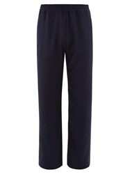 Hope Break Side Stripe Jersey Trousers Navy
