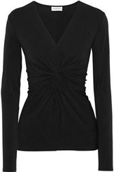 By Malene Birger Sulana Knotted Stretch Crepe Top Black