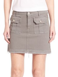 7 For All Mankind Utility Pocket Mini Skirt Moss