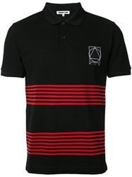 Mcq By Alexander Mcqueen Striped Polo Shirt Men Cotton L Black