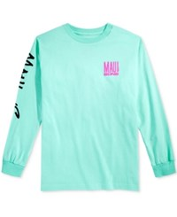 Maui And Sons Men's Fish Out Of Water Logo T Shirt Celadon