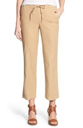 Nydj Women's 'Jamie' Relaxed Ankle Flared Pants Light Toffee
