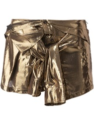 Faith Connexion Metallic Mini Skirt