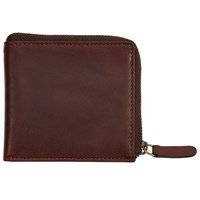 John Lewis And Co. Leather Zip Wallet Brown