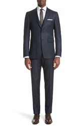 Burberry Men's Millbank Trim Fit Wool And Silk Suit