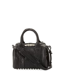 Alexander Wang Mini Rockie Dumbo Pebbled Duffel Bag Black