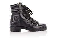 Christian Louboutin Women's Mad Flat Leather Boots Black