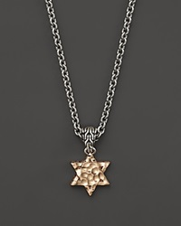 John Hardy Men's Sterling Silver And Bronze Palu Star Of David Pendant Necklace 26 Silver Bronze