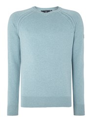Duck And Cover Mairs V Neck Knitwear Light Green