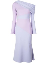 Christian Siriano One Shoulder Dress Purple