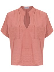 Olympiah Maggiolina Blouse Pink And Purple