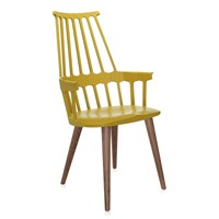 Kartell Comback Four Legs Chair Yellow Oak
