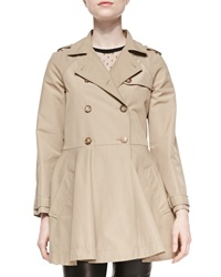Red Valentino Double Breasted A Line Skirt Trench Coat
