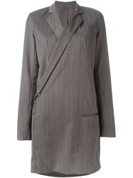 A.F.Vandevorst Long Sleeve Blazer Dress Grey