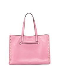 Red Valentino Rockstud Large Shopping Tote Bag Pink