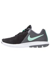 Nike Performance Flex Experience Run 5 Competition Running Shoes Black Green Glow Cool Grey White