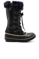 Sorel Joan Of Arctic Obsidian Boot With Faux Fur Black
