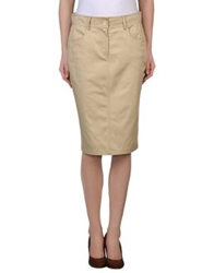 Clips More Knee Length Skirts Beige