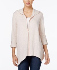 Styleandco. Style Co. Roll Tab Hoodie Only At Macy's Link Pink Heather