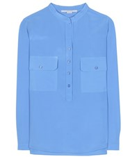 Stella Mccartney Estelle Silk Blouse Blue